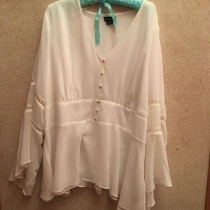 City Chic Size 22 Peasant Blouse